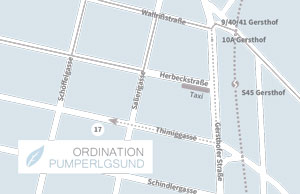 Lageplan Ordination Pumperlgsund